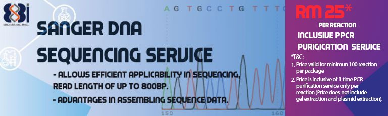 Sanger DNA Sequencing Service, RM25/rxn